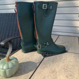 Steve Madden Tsunamii Contrast Zip Rain Boots-9